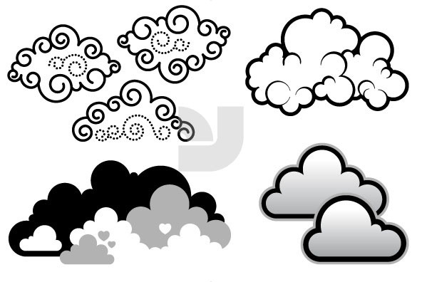 Line Art Clouds : The gallery for gt japanese cloud art