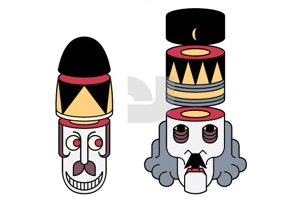 Twisted Christmas Nutcrackers