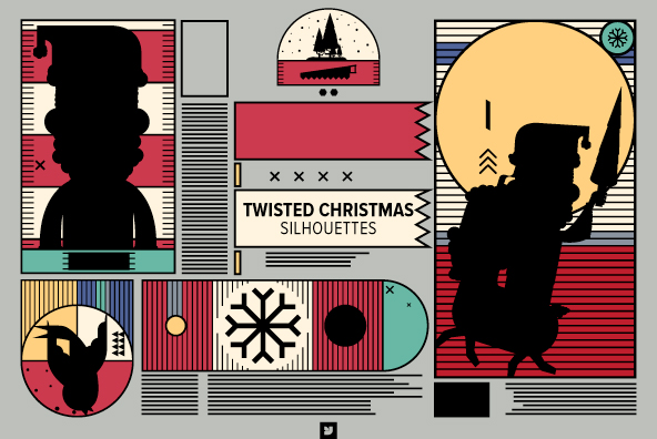 Twisted Christmas Silhouettes 02