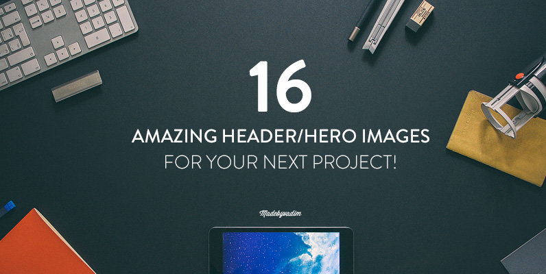 16 Hero/Header images