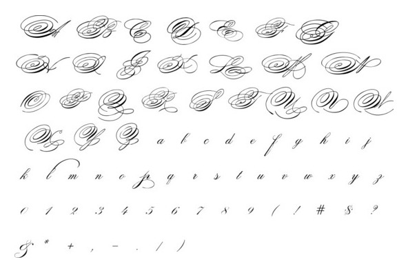 Spencerian Question Mark Calligraphy Discussions The