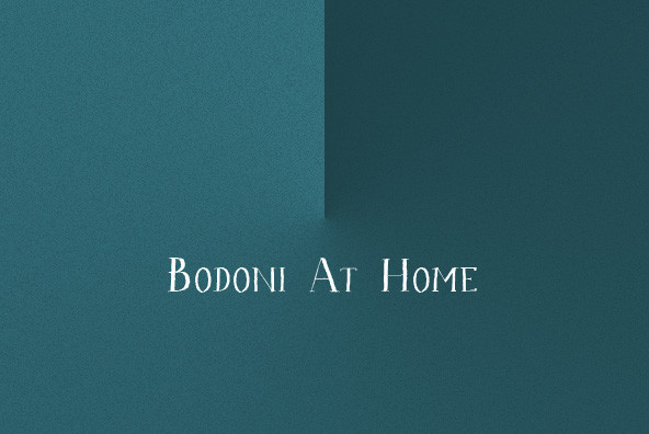 Bodoni At Home