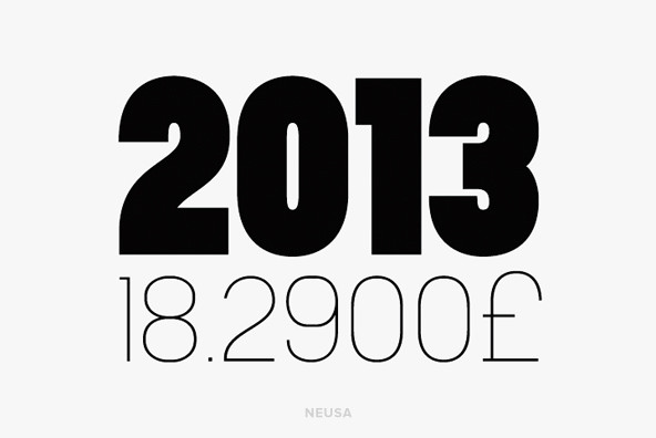 Top Fonts of 2013